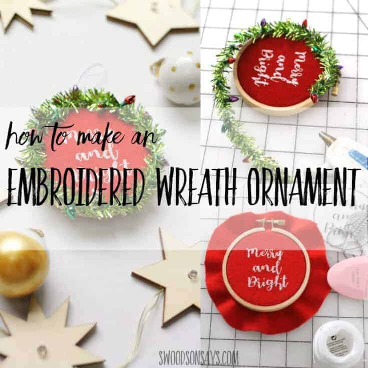 How to make an embroidered wreath ornament