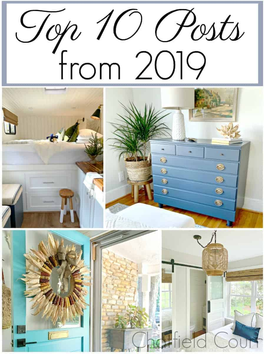 collage of top 10 decor and DIY posts of 2019