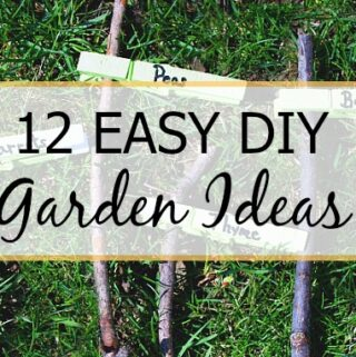 DIY garden markers and a large graphic