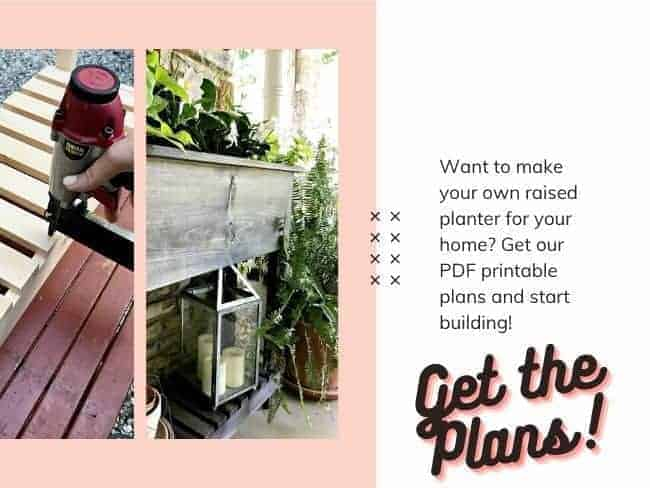 graphic with pictures of raised planter and building planter