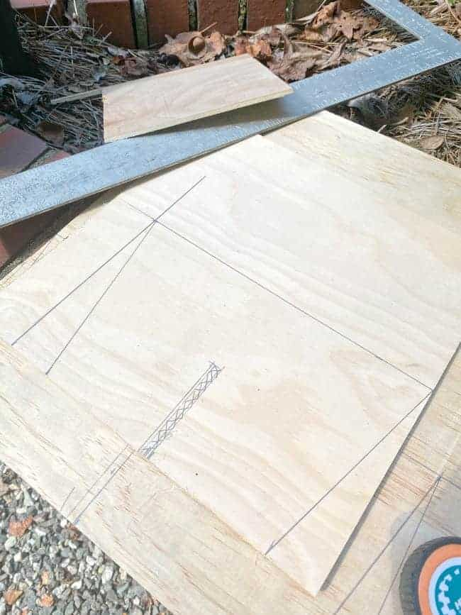 piece of underlayment with measurements on it