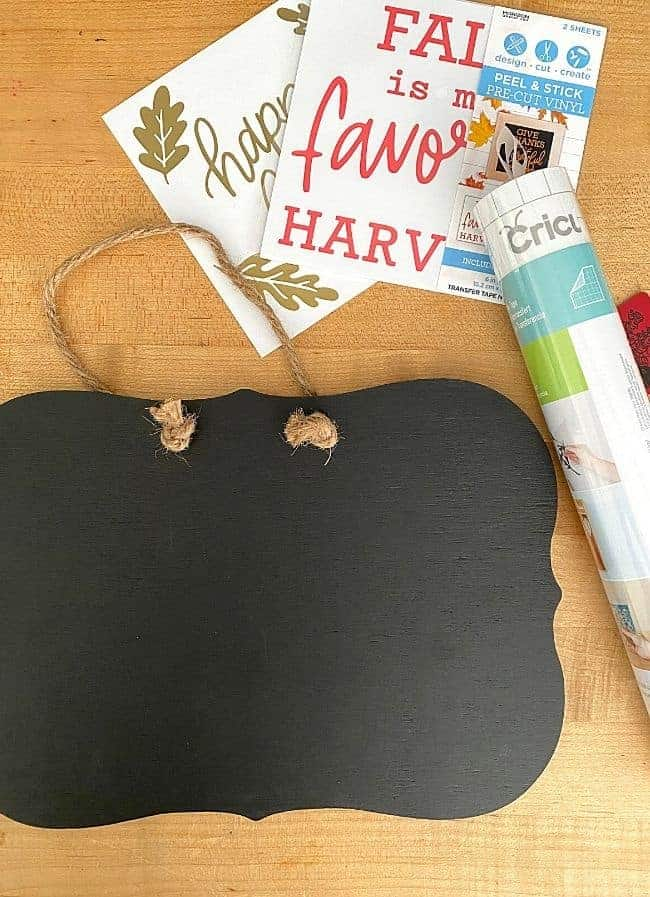 supplies to create a DIY fall sign