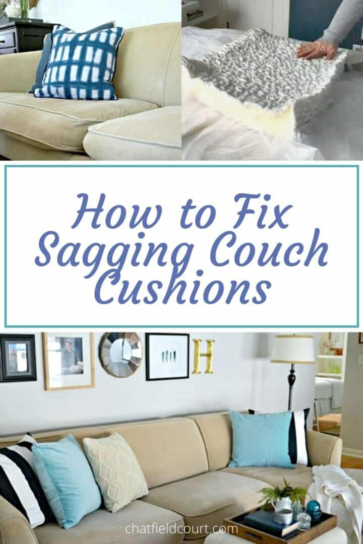 fixing sagging couch cushions