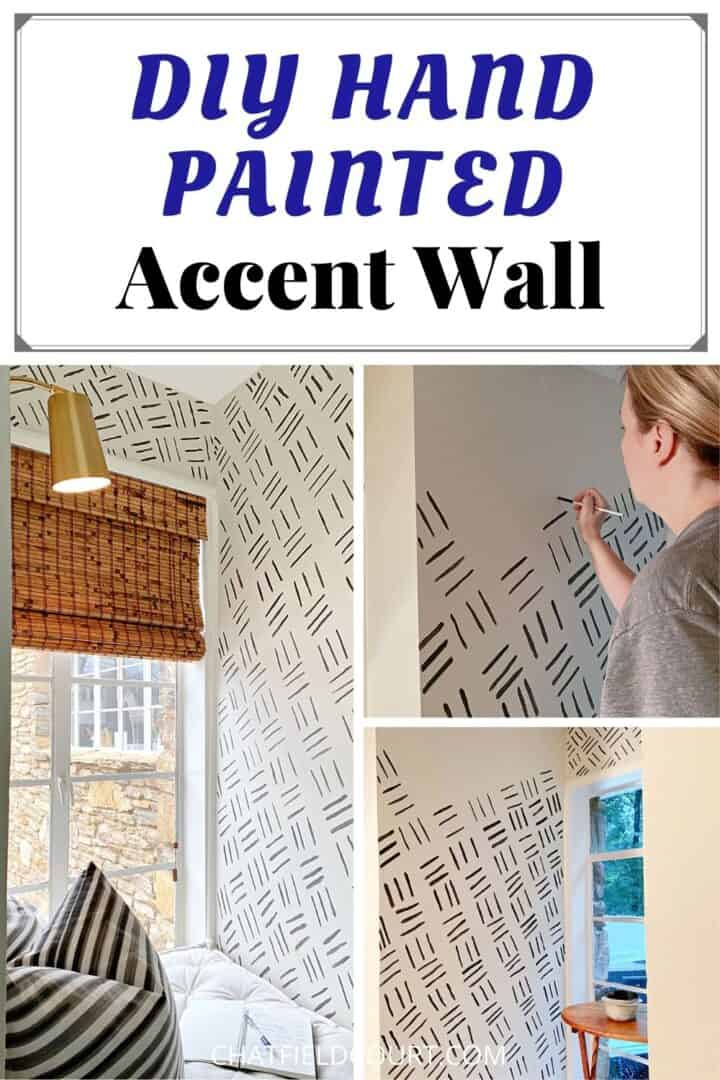 collage of hand-painted accent wall