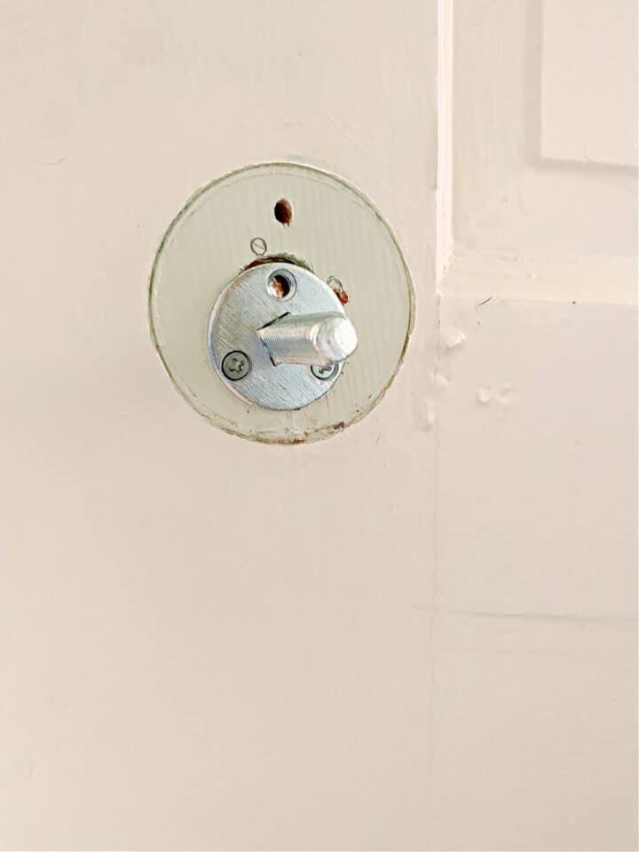 bracket for dummy door knob on closet door