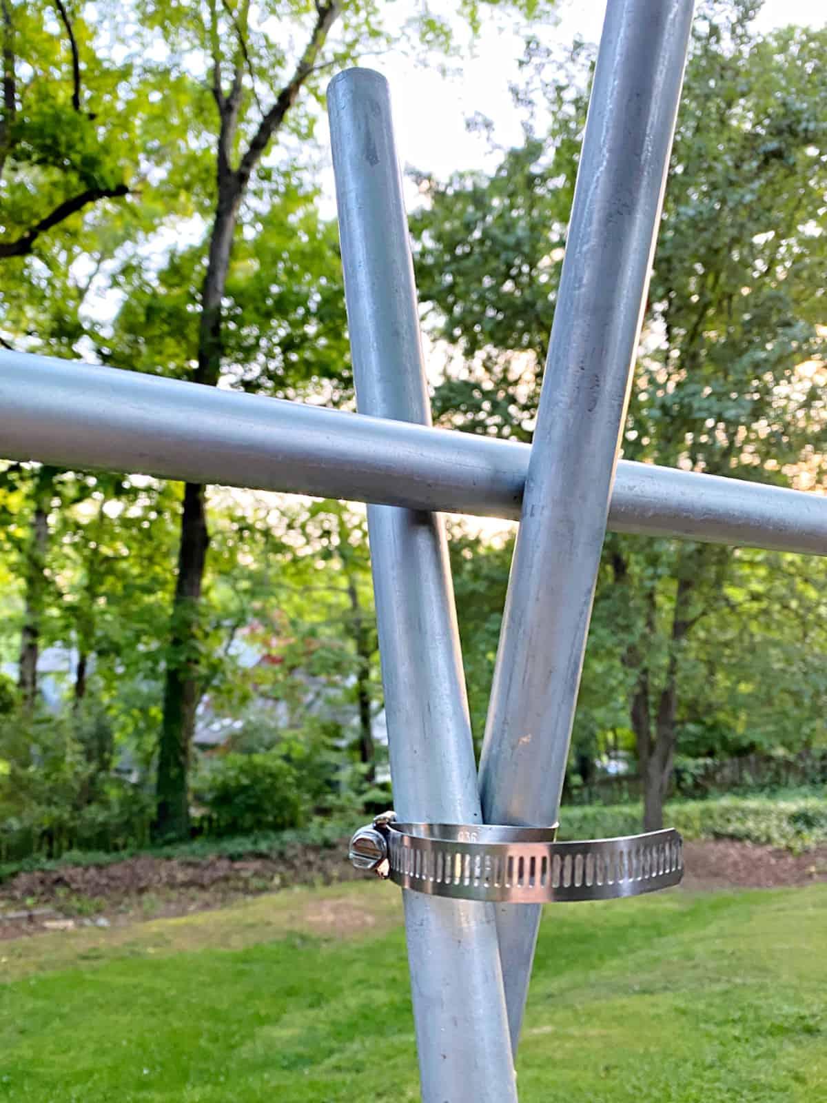 end of conduit pipe trellis