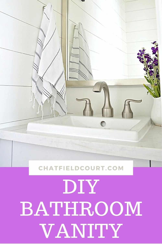DIY vanity in small powder room