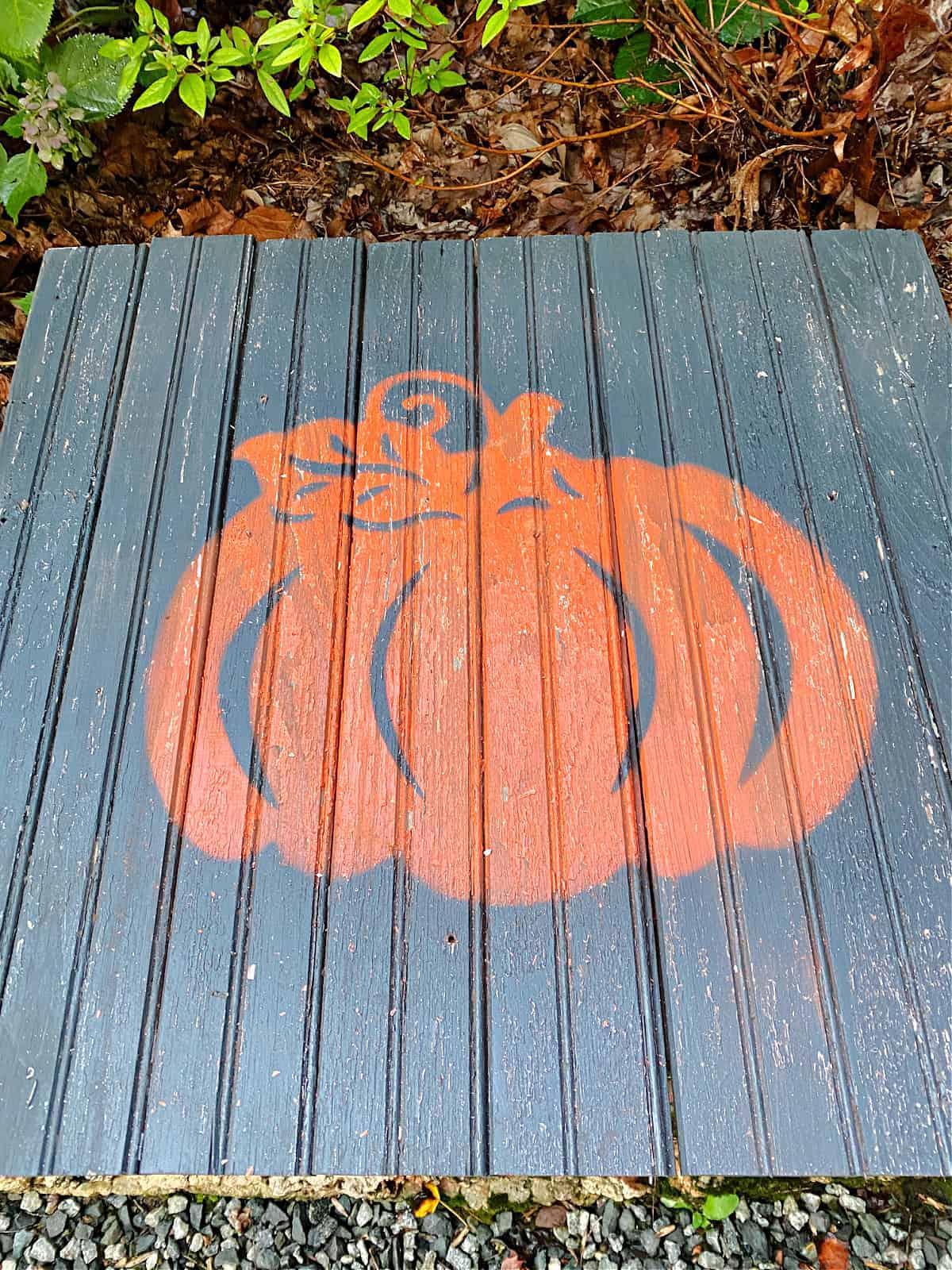 pumpkin wood sign