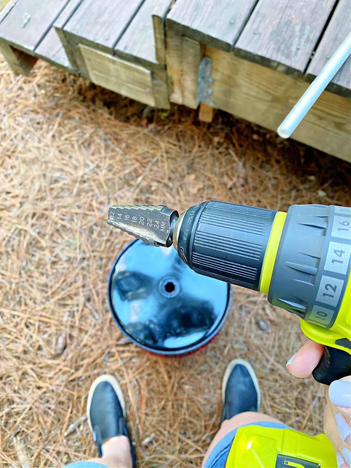 step bit on drill