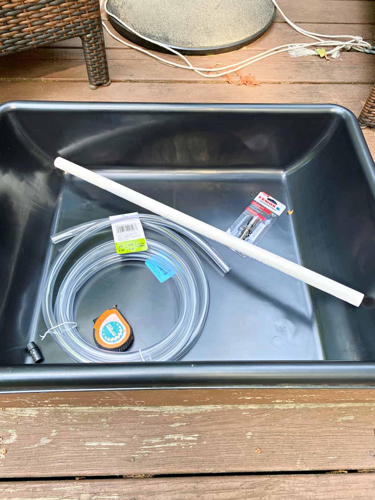 supplies to make fountain