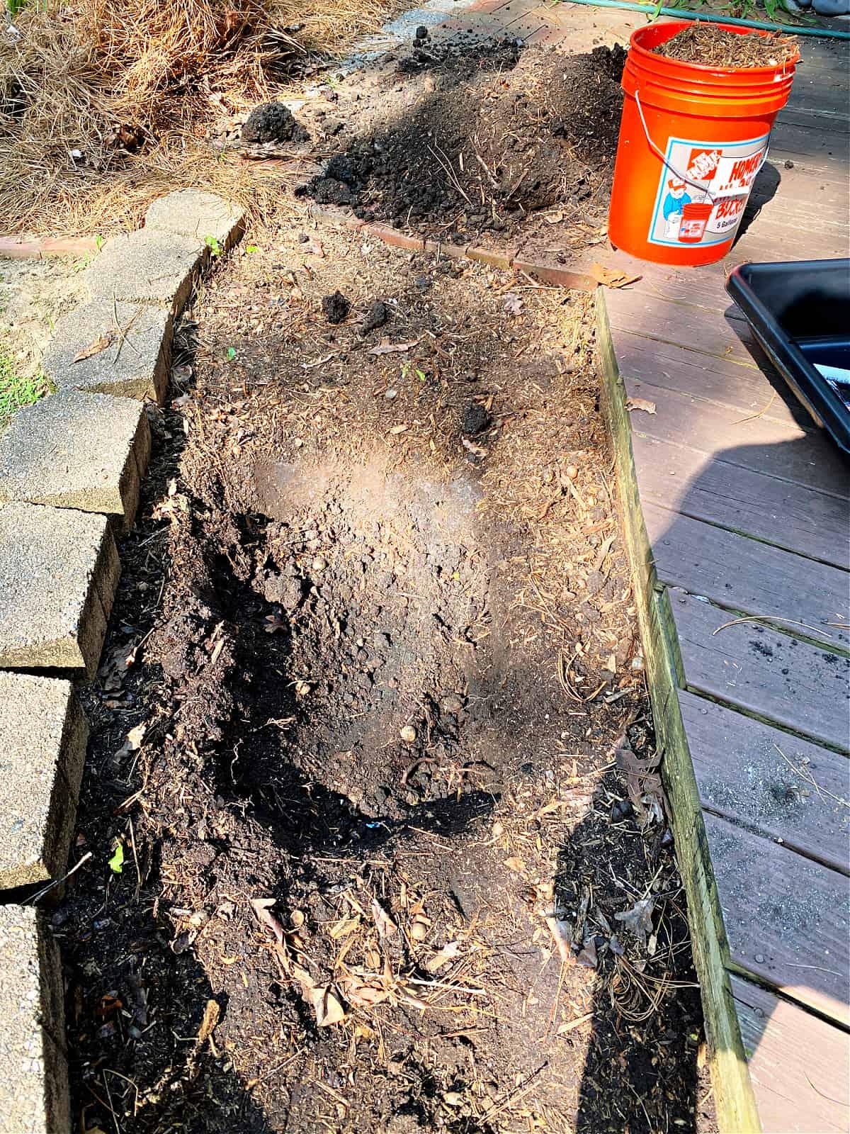 hole dug in dirt