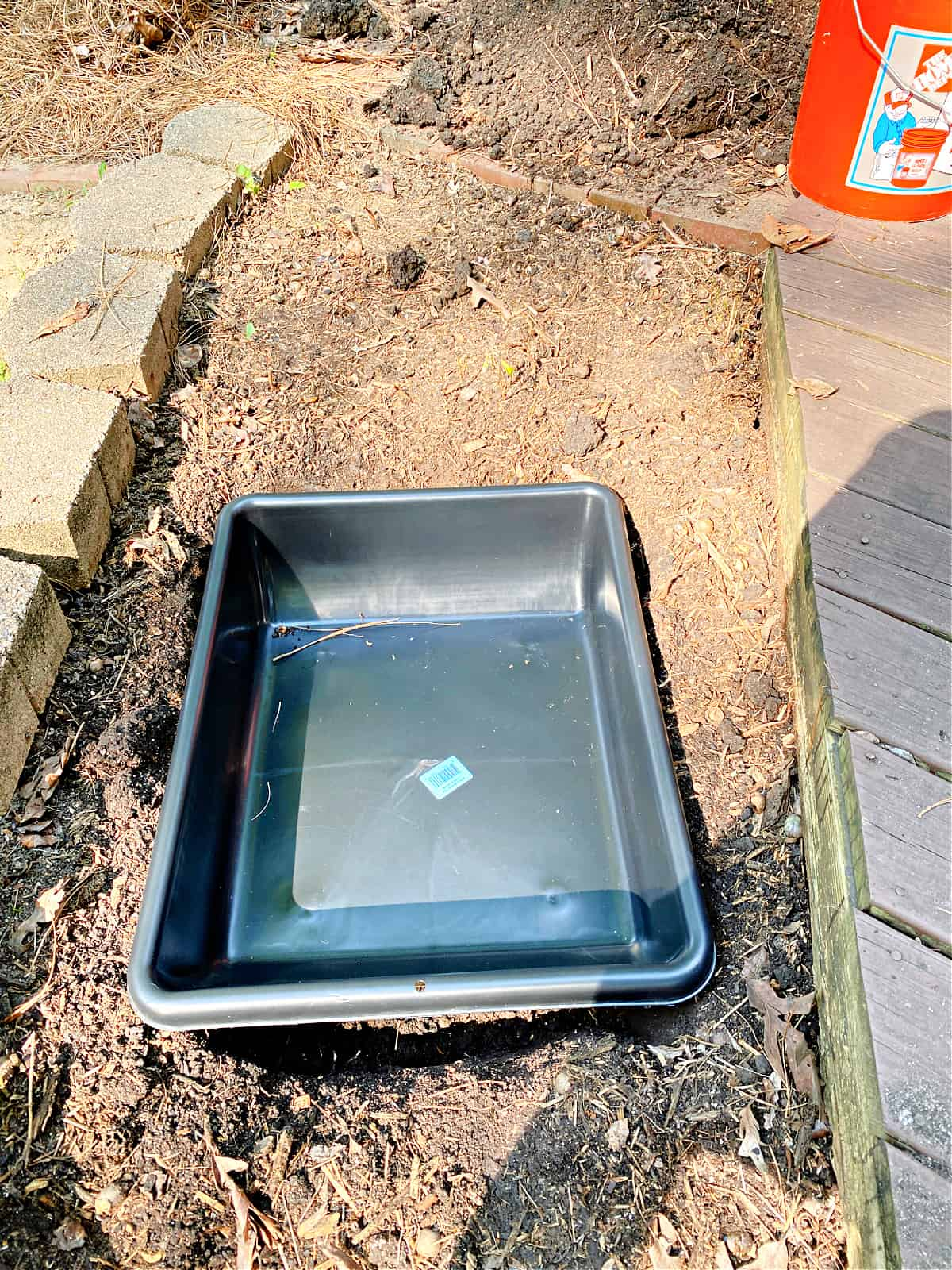 fountain liner in hole