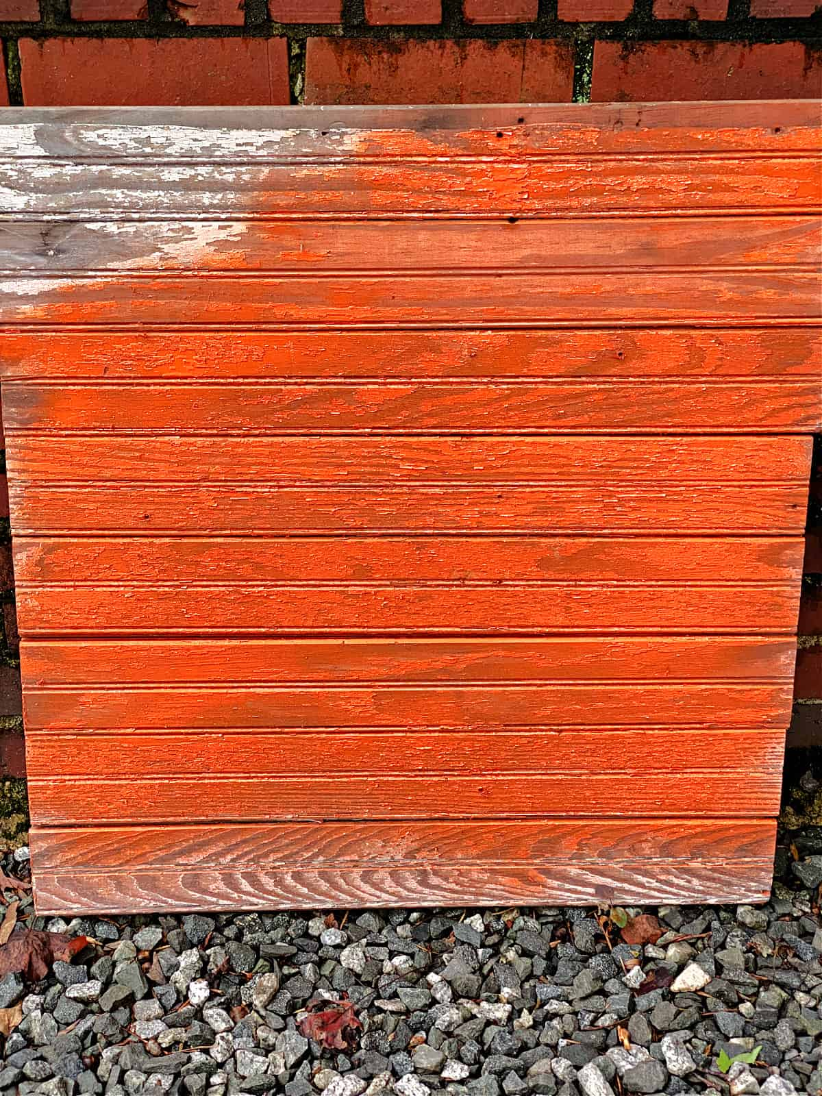 wood sign painted orange