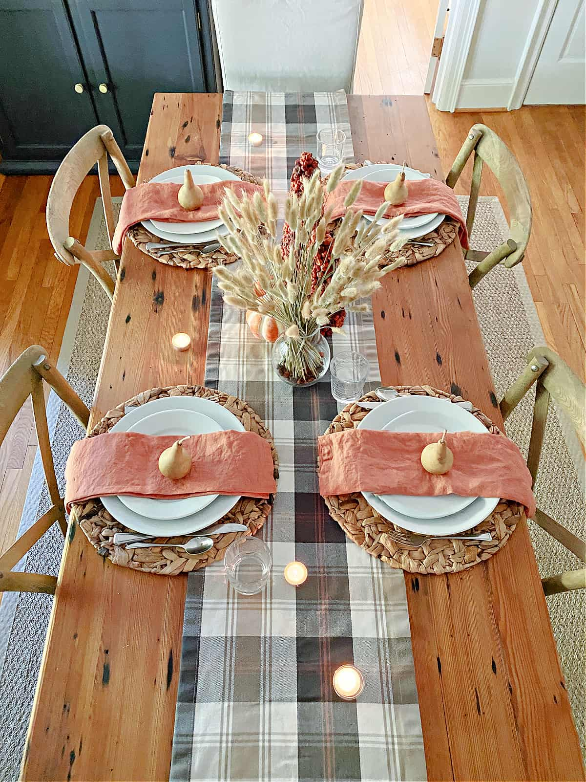 table set for fall